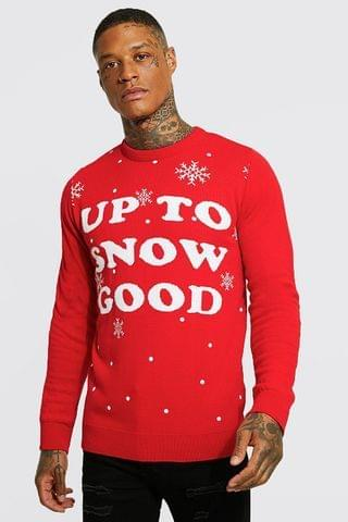 MEN Up To Snow Good Christmas Jumper