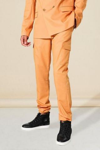 MEN Tall Skinny Cargo Suit Trousers