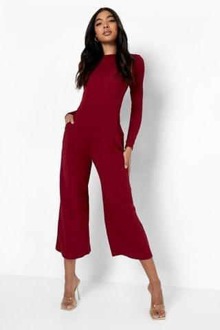 WOMEN Tall Recycled Long Sleeve Tailored Jumpsuit