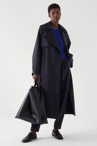 WOMEN DOUBLE-BREASTED TRENCH COAT