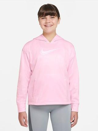 KIDS Big Kids' (Girls') Training Hoodie (Extended Size) Nike Therma-FIT