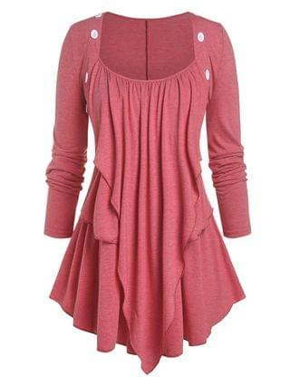 WOMEN Plus Size Overlay Layered Top